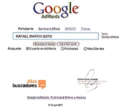Experts en Adwords de Google